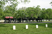 Ceremonies Prints - Caisson On The Way To A Burial Site Print by Skip Brown