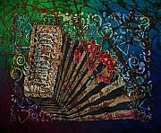 Cajun Accordian Print by Sue Duda
