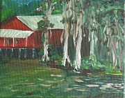 Crawfish Art - Cajun Cottage by Candace Nalepa