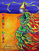 Mardi Gras Paintings - Cajun Mardi Gras by Helga Gravitt