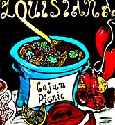 Gumbo Paintings - Cajun Picnic by Amy Carruth-Drum