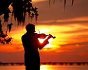 Violin Digital Art - Cajun Sunset Serenade by Luana K Perez