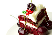 Cherries Prints - Cake Print by Blink Images