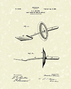 Hotel Drawings Prints - Cake Turner Design 1900 Patent Art Print by Prior Art Design