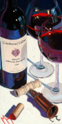 Red Wine Painting Posters - Cakebread Poster by Christopher Mize