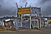 Photographers College Park Posters - Calabash Bait Shop Poster by Corky Willis Atlanta Photography