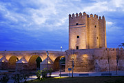 Cordoba Photos - Calahorra Tower and Roman Bridge in Cordoba by Artur Bogacki