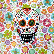 Gato Paintings - Calavera White by Pristine Cartera Turkus