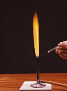 Bunsen Burner Prints - Calcium Flame Test Print by Andrew Lambert Photography