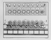 Computers Prints - Calculating Machine Designed By French Print by Everett