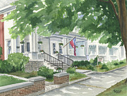 Guest Painting Prints - Caldwell House Bed and Breakfast Print by Marsha Elliott