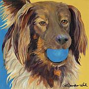 Canines Painting Framed Prints - Caleigh Framed Print by Pat Saunders-White