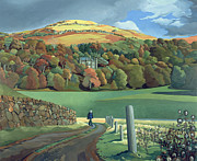 Autumn Landscape Painting Prints - Calgary House - Isle of Mull  Print by Anna Teasdale