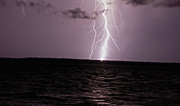 Hilton Head Prints - Calibogue Island Lightning Strike Print by Ethan  Bryant