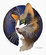 Felines Painting Prints - Calico Print by Arline Wagner