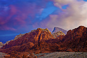 Red Rock Canyon Framed Prints - Calico Hills Sunrise Framed Print by Mark Christian