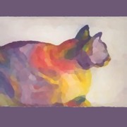 Color Purple Pastels Posters - Calico Poster by Vicki Lynn Sodora