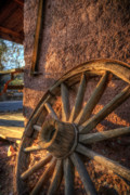 Old West Prints - Calico Wheel Print by Wayne Stadler