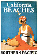 California Beaches Prints - California Beaches Print by Maurice Logan
