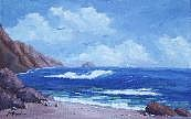 Calif. On Google Painting Originals - California Coast by Bob Phillips