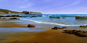 Laguna Beach Painting Prints - California Coast Print by Cliff Wassmann
