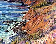 California Drawings - California Coast by Donald Maier