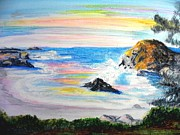 Reflections Of Sun In Water Art - California Coast by Susan  Clark