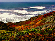 California Coastline Print by Nadine and Bob Johnston