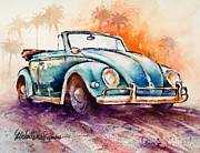 Beetle Paintings - California Convertible by Michael David Sorensen