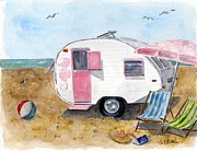 Camper Paintings - California Dreamin by Sheryl Heatherly Hawkins