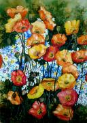 California Poppy Paintings - California Dreamz by Karin Best