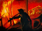 Fireman Paintings - California Fire Eater by Thom Murphy