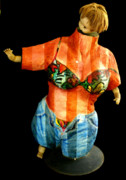 Oil Sculpture Originals - California Gal by Gideon Cohn