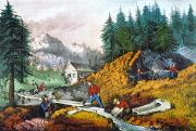1871 Art - California: Gold Mining by Granger
