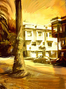 San Francisco Mixed Media Metal Prints - California Gold Metal Print by Russell Pierce