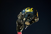 Sports Art Print Prints - California Golden Bears Helmet Print by Replay Photos