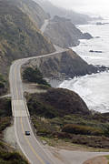 Elevated Views Framed Prints - California Highway 1 Or Pacific Coast Framed Print by Rich Reid