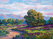 Pathway Paintings - California Hills - Plein Air by David Lloyd Glover