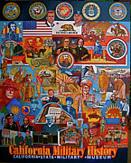 California Military History Mural Upgrade Print by Dean Gleisberg