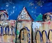 Mission Mixed Media Prints - California Mission 2 Print by Suzanne Kfoury