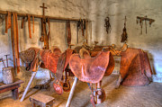Historic Buildings Art - California Mission La Purisima Saddle Shop by Bob Christopher
