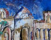 Lyrical Mixed Media - California Mission by Suzanne Kfoury