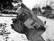 Floods Photos - California New Years Day 1934 Flash by Everett