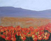 Poppies Field Painting Originals - California poppies field by Silvia Philippsohn