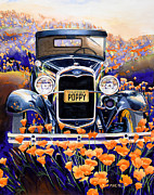 Car Painting Originals - California Poppy by Mike Hill