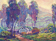 Eucalyptus Paintings - California Ranch Evening by David Lloyd Glover