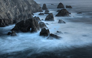 Couples Prints - California Rocky Coastline Print by Bob Christopher