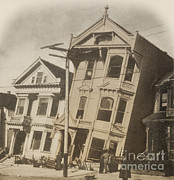 California Earthquake Prints - California San Francisco Fire Print by Science Source
