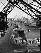 Csx Framed Prints - California Shipbuilding Corp. Yard Framed Print by Everett