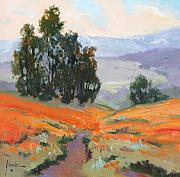 California Poppy Paintings - California Spring by Susan F Greaves
